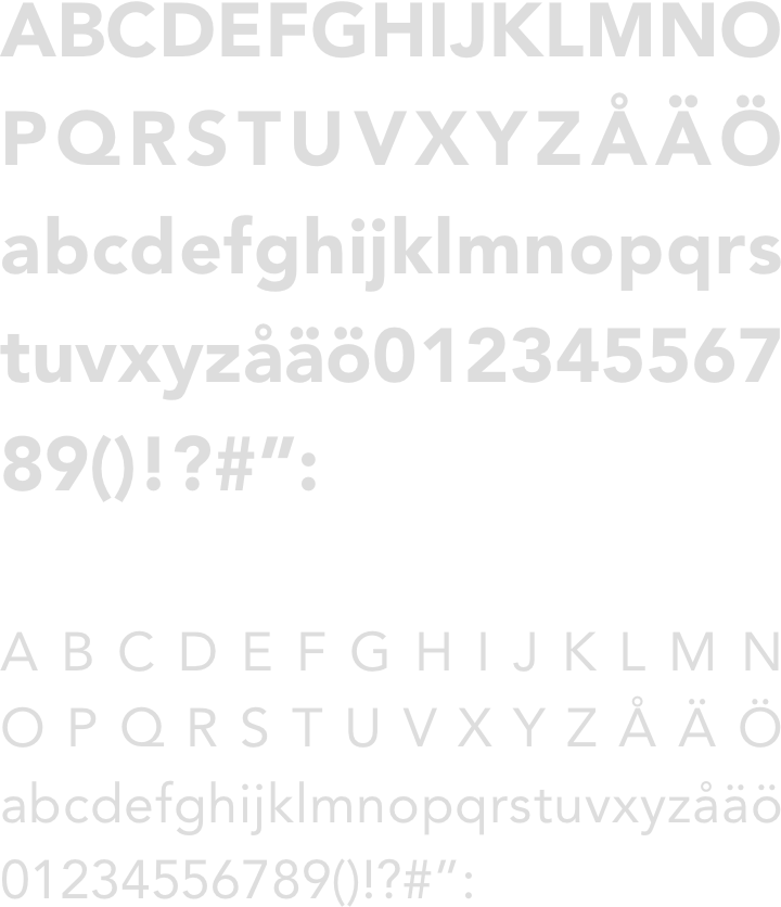 Avenir roman font sample